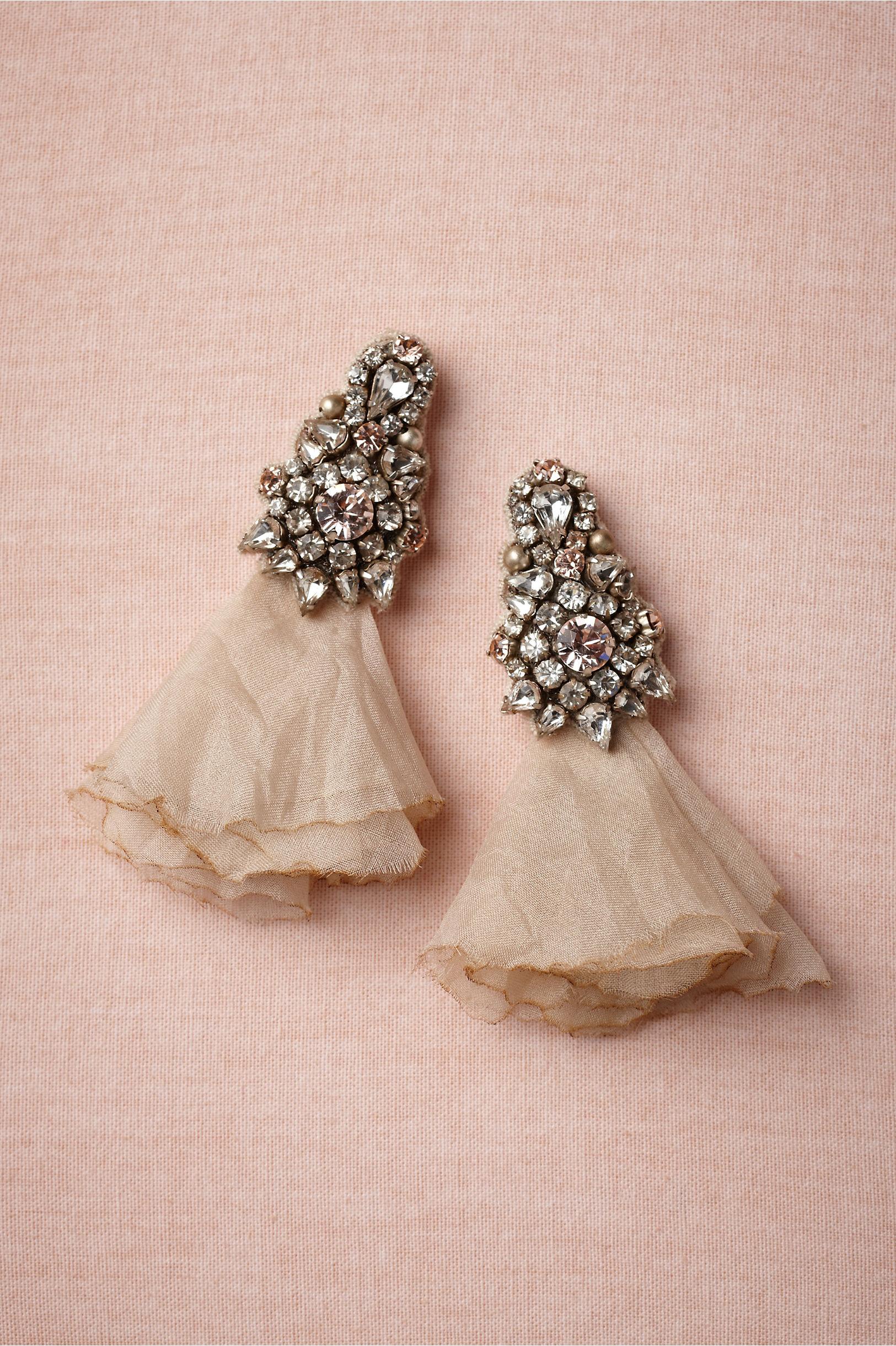 vintage inspired bridal earrings BHLDN | OneWed.com