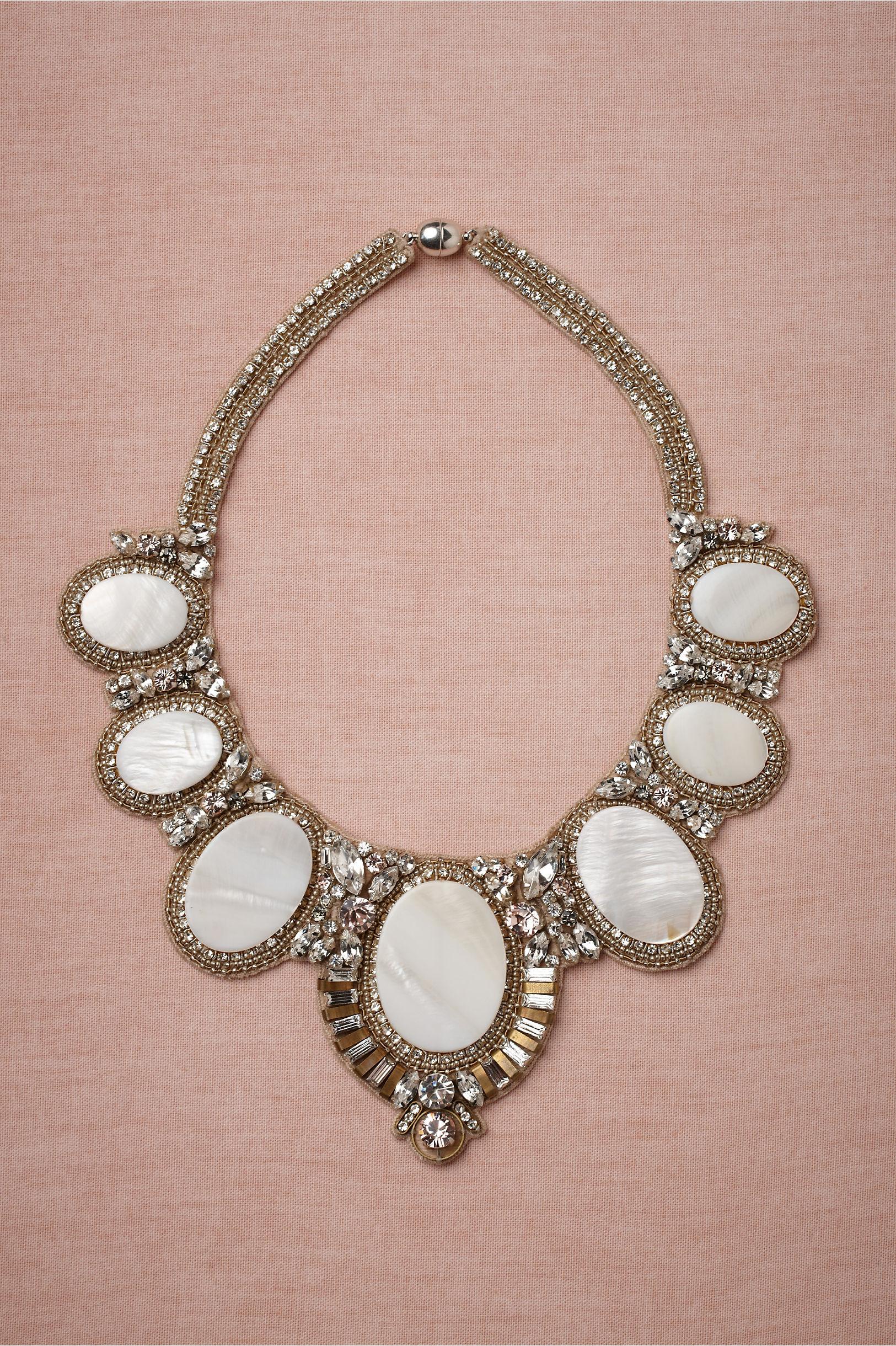 bhldn bridal gowns wedding jewelry statement necklace 1