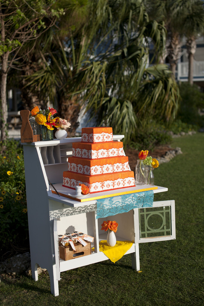 photo of Rustic Wedding with a Tangerine Twist