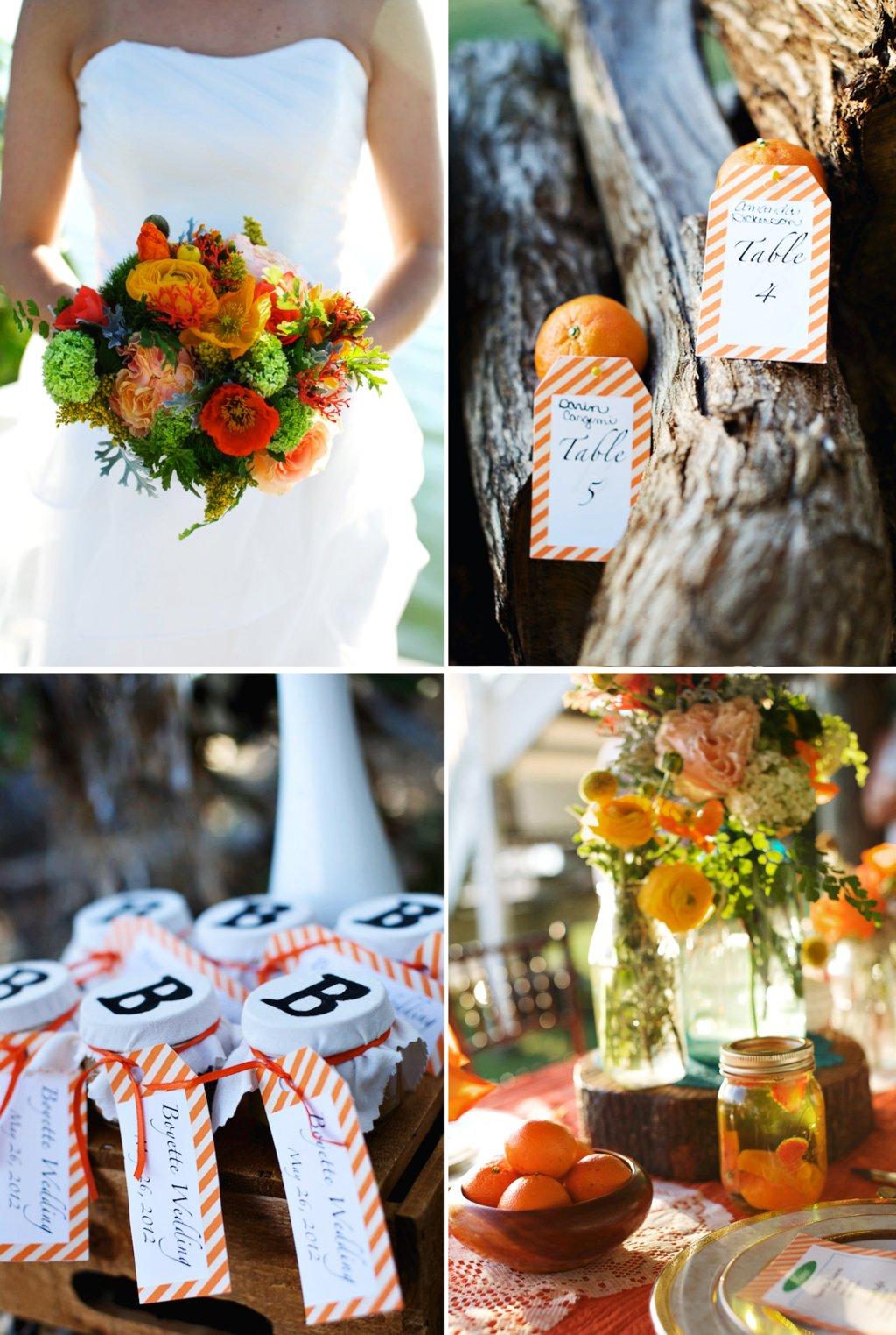 Rustic-citrus-wedding-inspiration-mason-jar-centerpieces-escort-cards.full