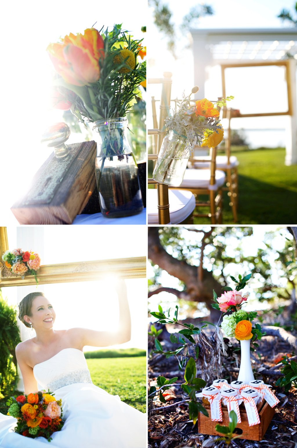 Rustic-citrus-wedding-inspiration-outdoor-wedding-mason-jar-centerpieces.full