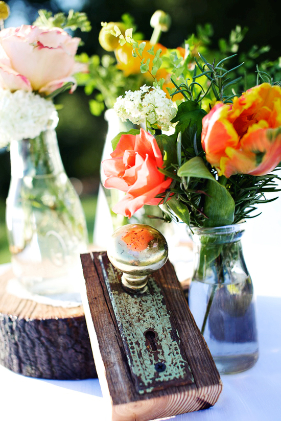rustic citrus wedding inspiration outdoor spring wedding ideas rustic centerpieces 2