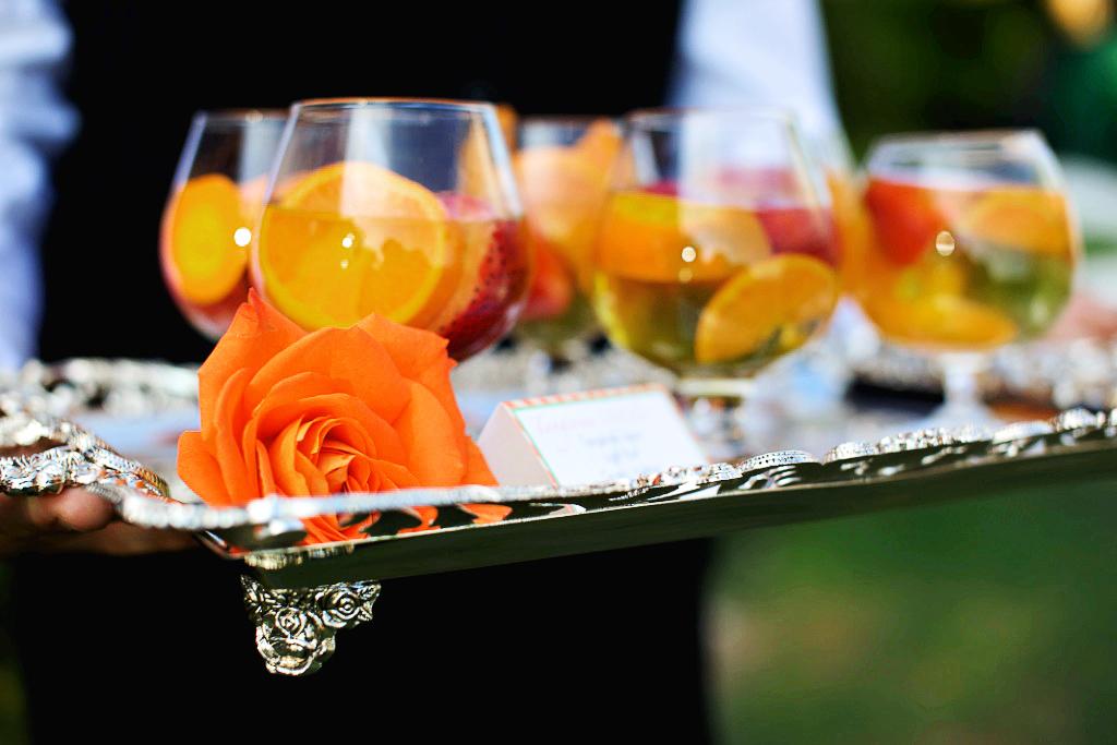 rustic citrus wedding inspiration outdoor spring wedding ideas ...