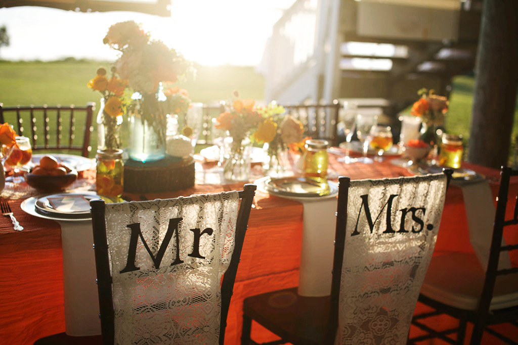 Rustic-citrus-wedding-inspiration-outdoor-spring-wedding-ideas-mr-mrs-chairs.full