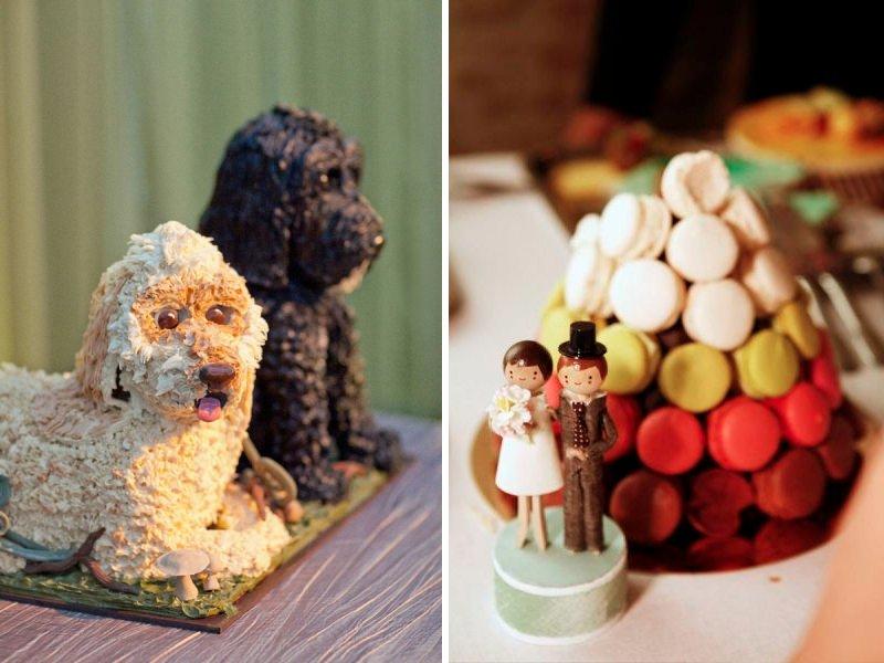 Unique-wedding-cakes-non-cake-reception-desserts-dogs-macaroons.full