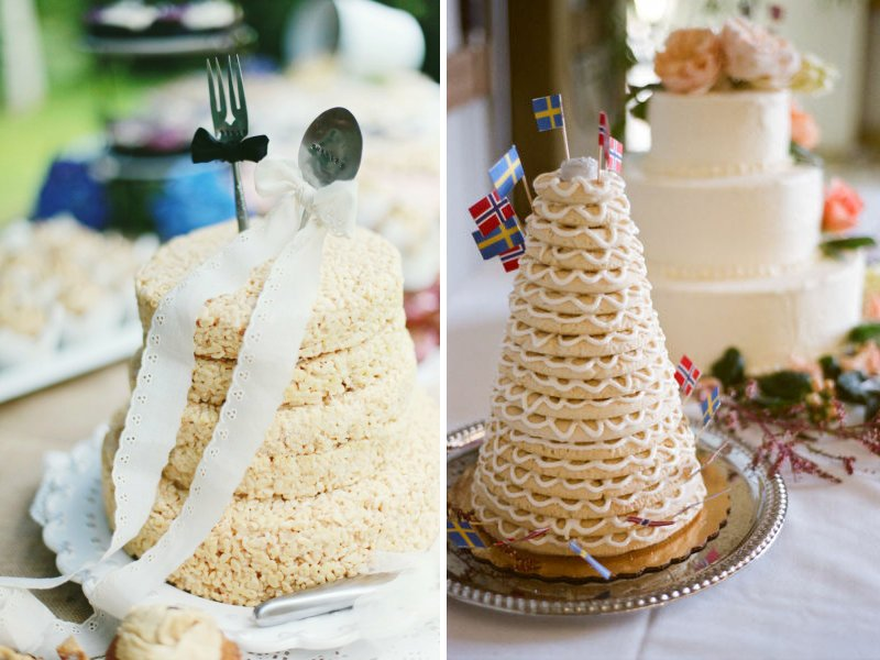 Charming Unique Wedding Cakes Non Cake Reception Desserts Rice Krispies