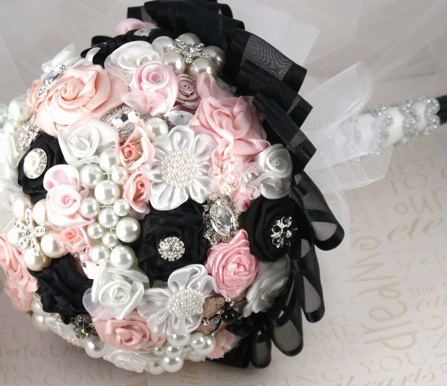 Unique Bridal Bouquet Brooches And Ribbons