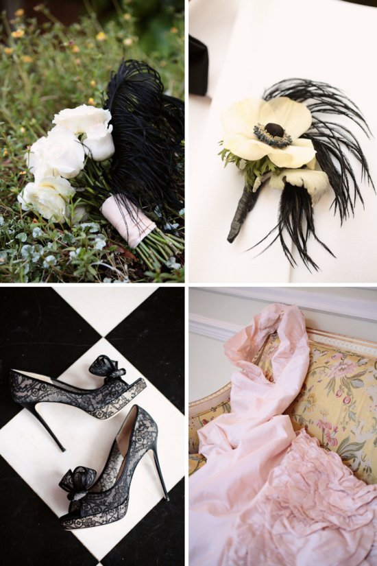 black ivory wedding colors black tie outdoor weddings with blush pink dress 1