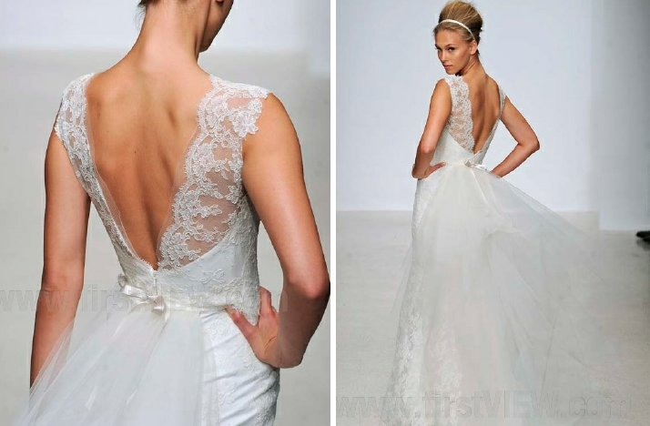 christos 2013 wedding dress statement back bridal gowns 2