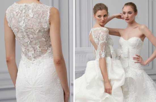 monique lhuillier 2013 wedding dress open back bridal gowns 3