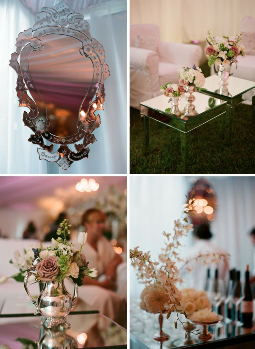 Creative wedding decor ideas outdoor weddings with mirrors 2 junglespirit Image collections
