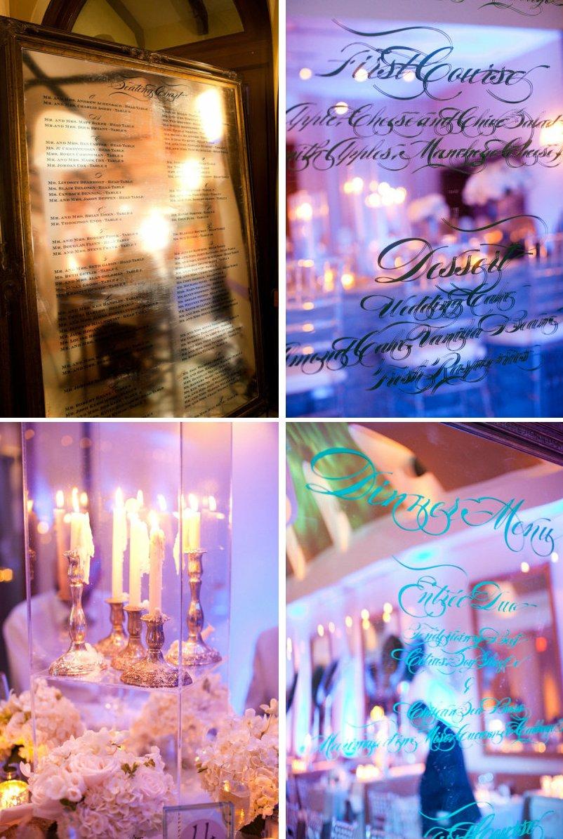 Elegant-wedding-reception-decor-idea-mirrors-vintage-glam-weddings-2.full