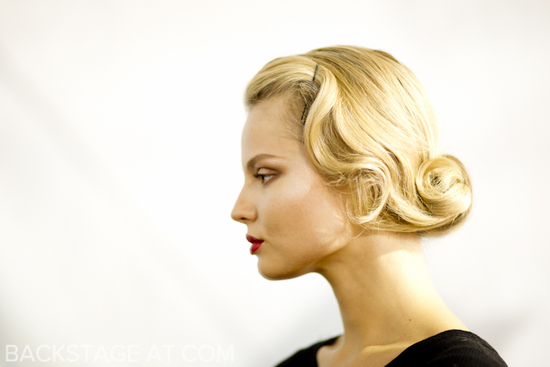 retro glam wedding updo vintage brides