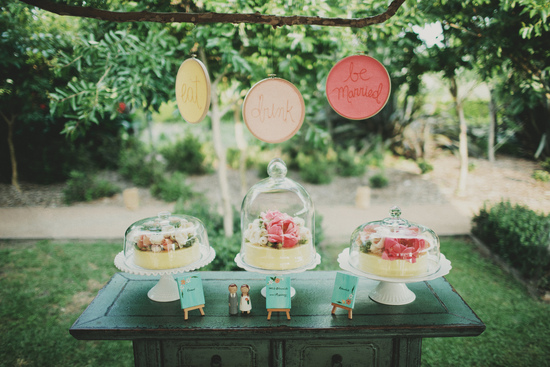 embroidered hoops for outdoor wedding decor