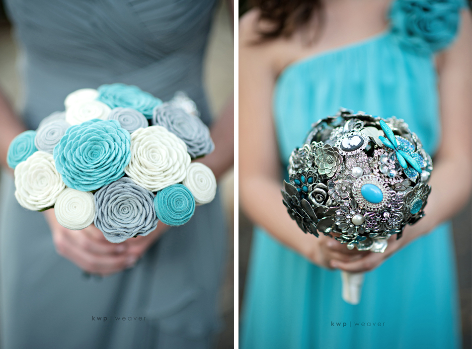 non fresh wedding flowers bridesmaid bouquets