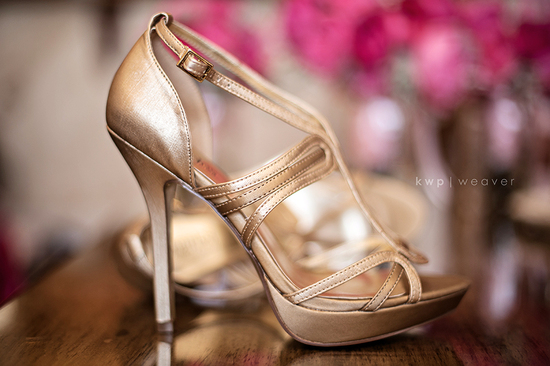 elegant southern wedding summer 2012 gold wedding shoes