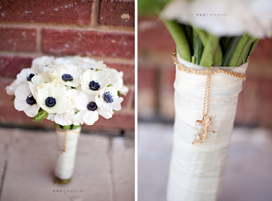 artistic wedding photography detail shots bridal bouquet anemones