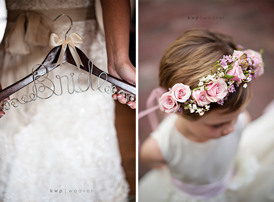 Real-wedding-detail-shot-reasons-to-splurge-on-the-wedding-photographer-bride-hanger-flower-girl.full