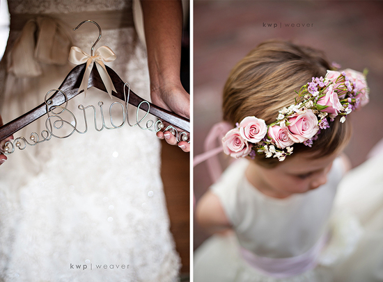real wedding detail shot reasons to splurge on the wedding photographer bride hanger flower girl