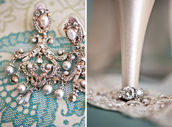 artistic wedding photography detail shots earrings diamond engagement ring