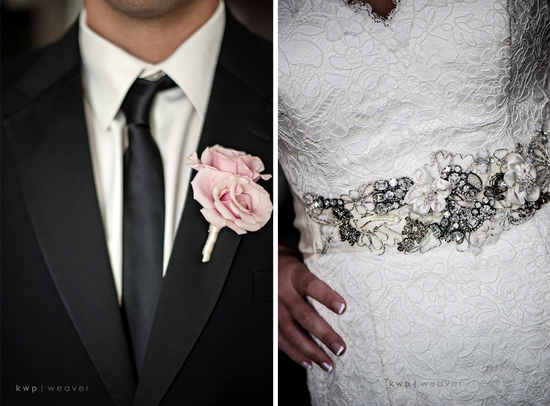 wedding photography detail shots bridal sash grooms bout