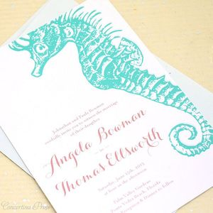 photo of Seahorse and Starfish Wedding Invitations