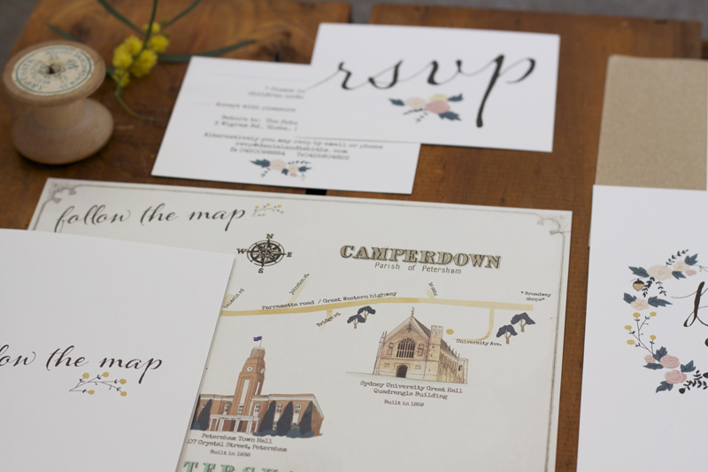 Country Chic Wedding Invitations Whimsical Illustrated Wedding Stationery 3
