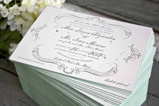country chic wedding invitations for vintage brides white gray aqua 1