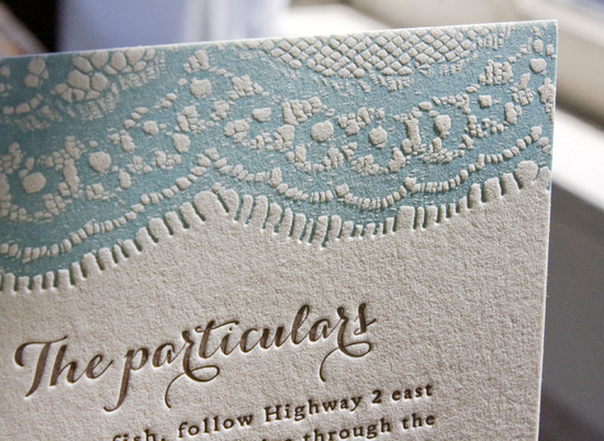 ice blue ivory wedding invitations letterpress 2
