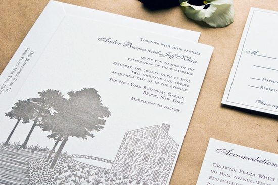 country vintage wedding invitations neutrals gray ivory 2