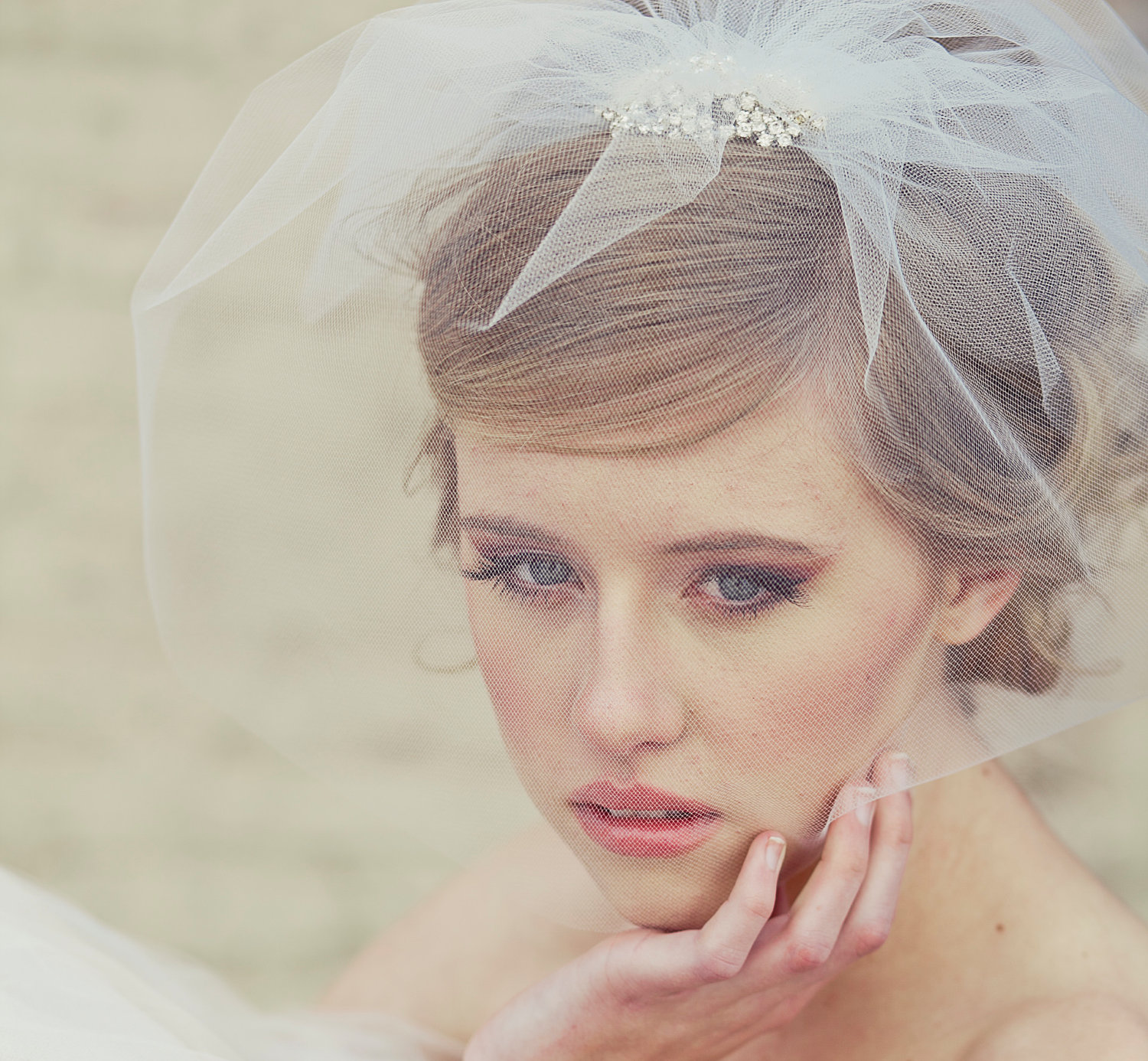 Romantic-bridal-veil-birdcage-blusher-tulle.original