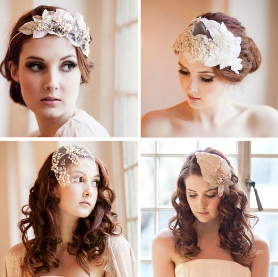 romantic bridal veils tulle from Etsy for vintage brides 2