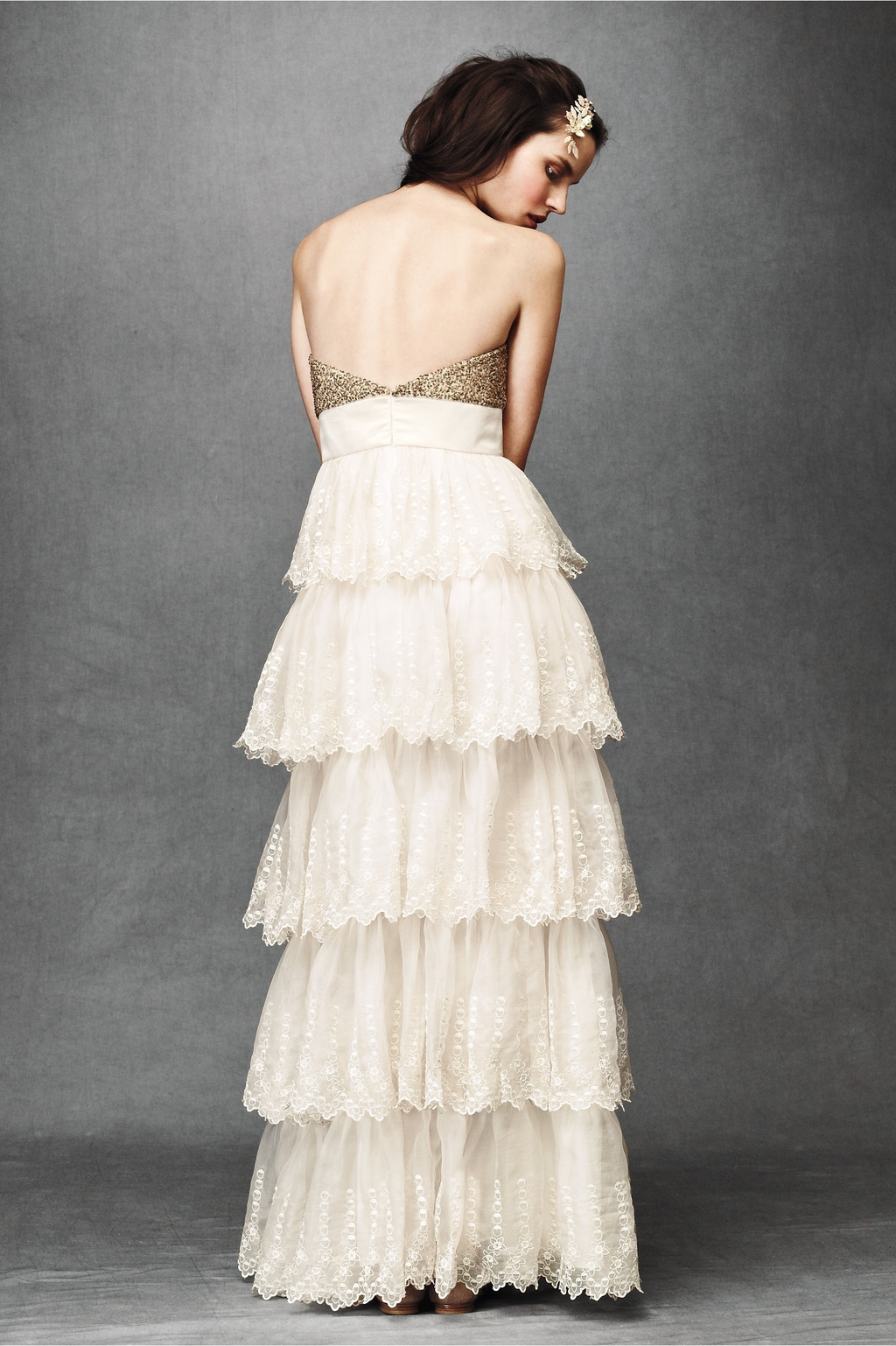 Burnished-organza-wedding-dress-2011-strapless-empire-ruffled-tiers-bhldn-back.full