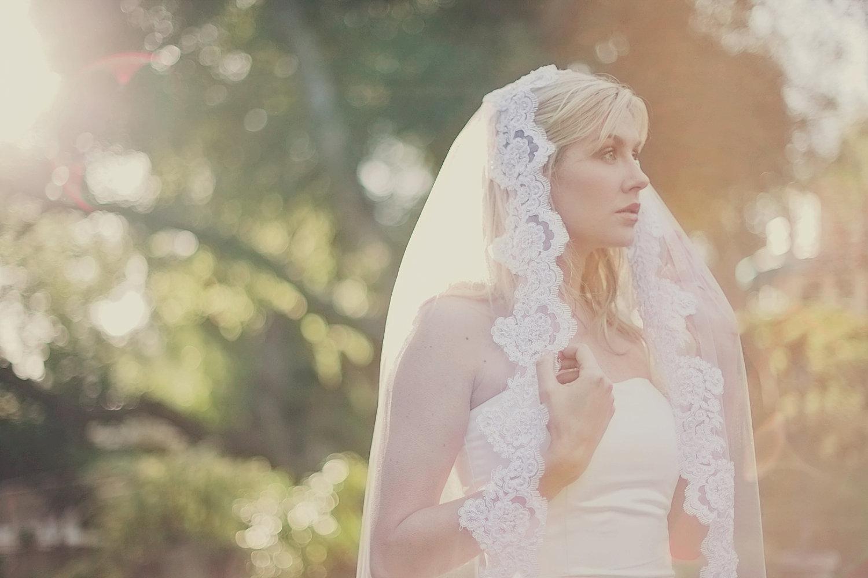 Romantic Bridal Veil Long Wedding Veils With Lace