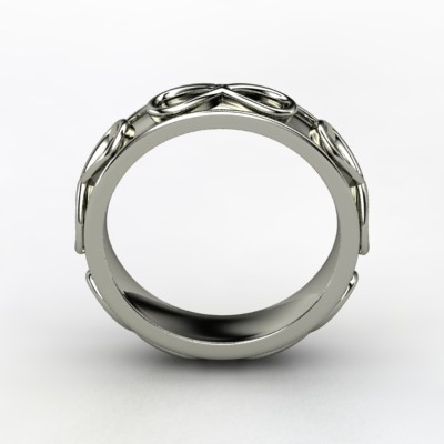 Men's Infinity Wedding Band
