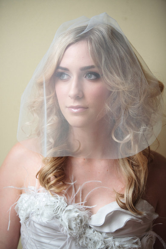 sheer bridal blusher wedding veils