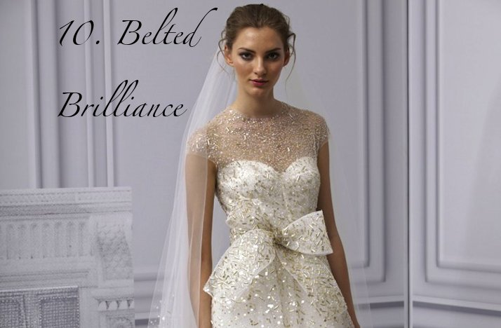 2012 summer wedding trends lace bridal gowns with sparkly belts