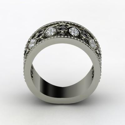 Ornate-wedding-band-diamonds-black-gemstones-white-gold-renaissance-2.full