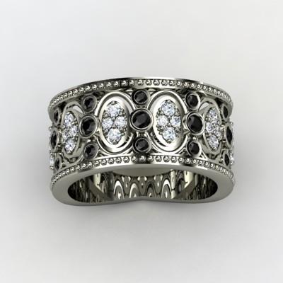 Ornate-wedding-band-diamonds-black-gemstones-white-gold-renaissance-3.full