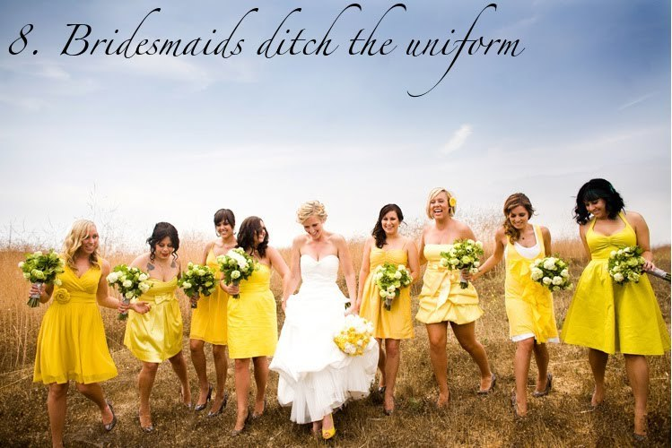 Mix-and-match-bridesmaids-yellow-dresses-2012-summer-wedding-trends.full