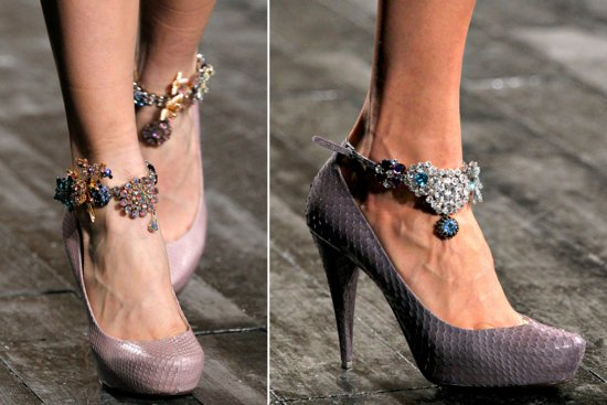 jeweled wedding shoes 2012 trends