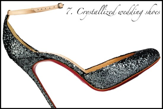 summer 2012 wedding hot list crystallized wedding shoes