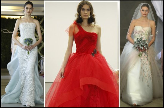 2012 summer wedding trends bridal style hot list non white dresses
