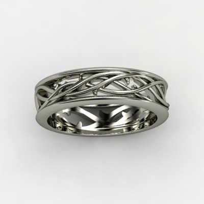 Vine Wedding Band