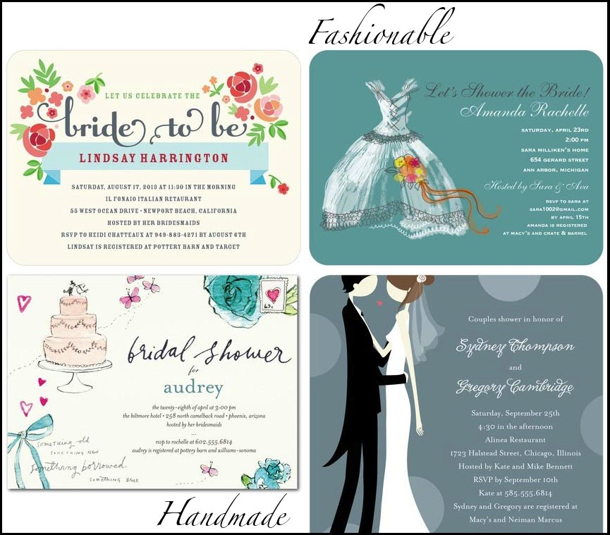 wedding invitations by style bridal shower stationery for fashionable handmade