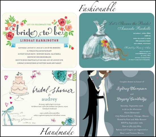 photo of wedding invitations by style bridal shower stationery for fashionable handmade