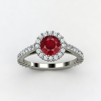 photo of Raquel Ruby Engagement Ring
