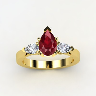 photo of Trios Pear Engagement Ring