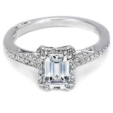 Tacori Pave Engagement Ring 2620RDP