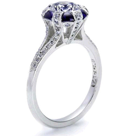 Tacori Sapphire and Diamond Engagement Ring